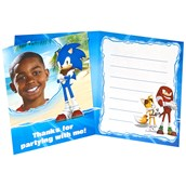 Sonic Boom Personalized Thank You Notes