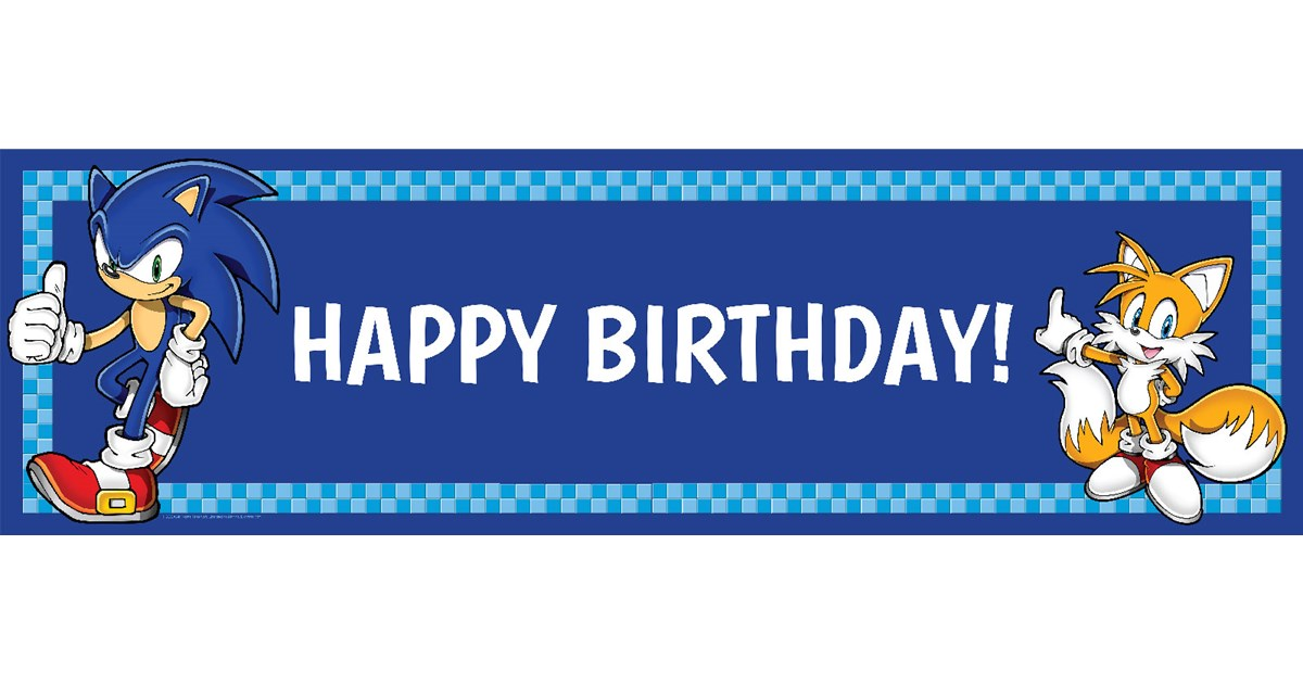 Sonic The Hedgehog Birthday Banner Birthdayexpress Com