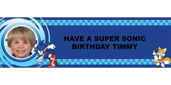 Sonic the Hedgehog Personalized Photo Vinyl Banner