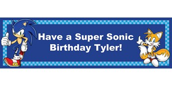 Sonic the Hedgehog Personalized Vinyl Banner