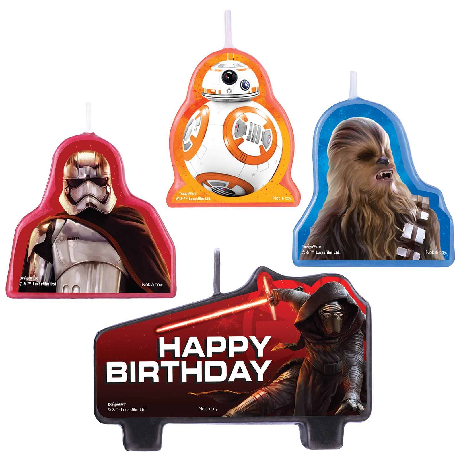Star Wars Birthday Candle Set