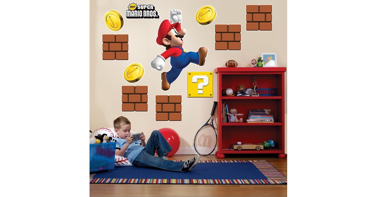 Super mario bros giant wall decals - Super mario giant wall decals ...