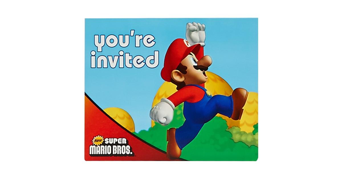 Super Mario Bros Invitations Birthdayexpress Com