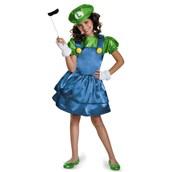 Super Mario Bros: Luigi w/Skirt Costume For Kids