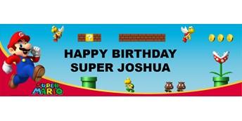 Super Mario Bros. - Mario Personalized Vinyl Banner