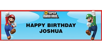 Super Mario Bros. Personalized Vinyl Banner