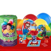 Super Mario Brothers 16 Guest Kit with Tableware and Helium Kit