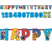 Super Mario Jumbo Add-an-age Letter Banner