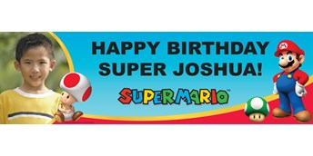 Super Mario Party Personalized Photo Vinyl Banner