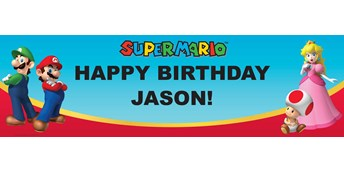 Super Mario Party Personalized Vinyl Banner