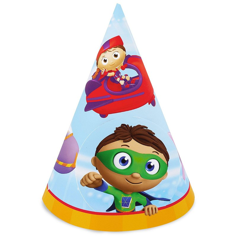 Super Why Cone Hats