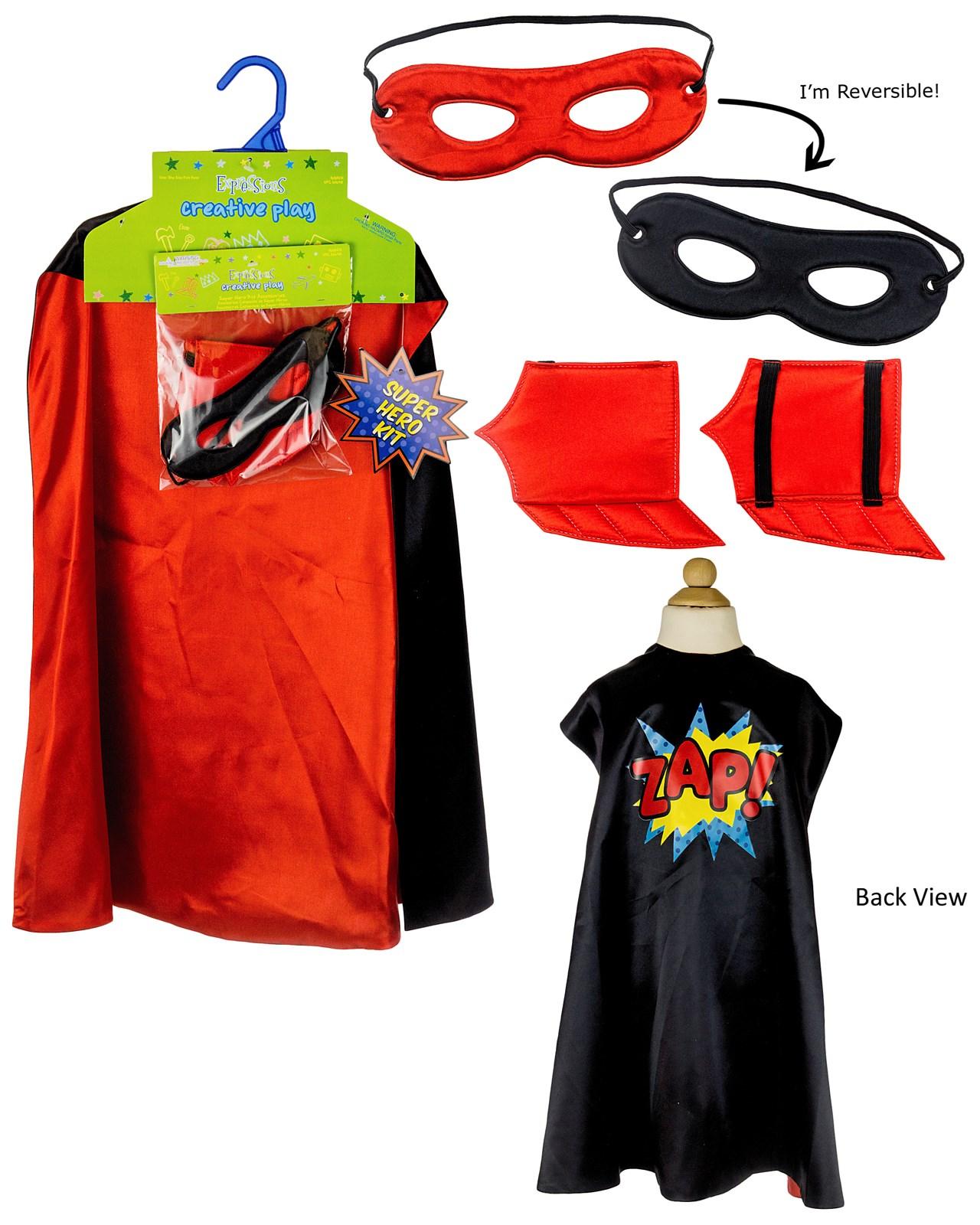 Superhero Black Cape Kit