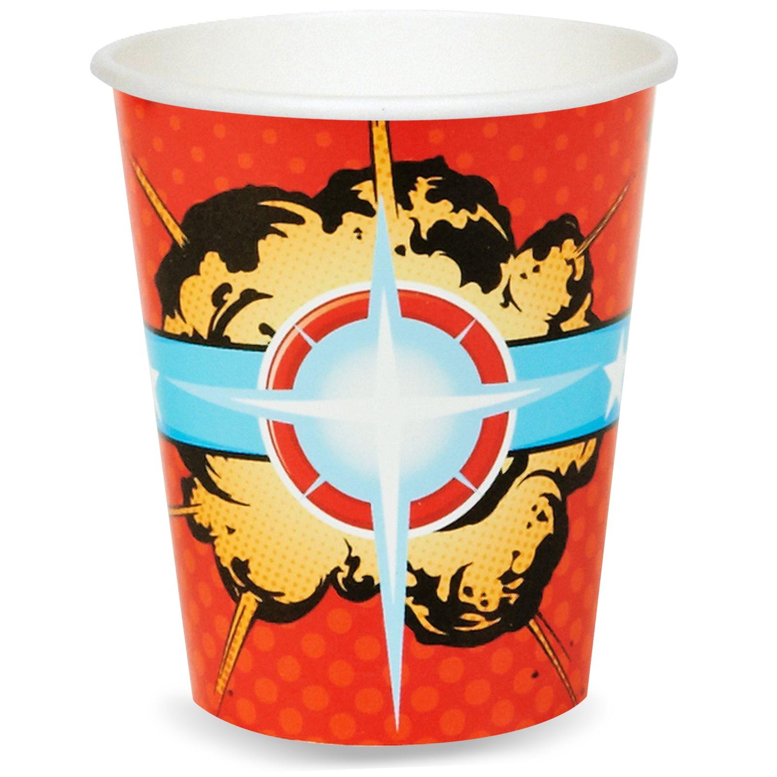 Superhero Paper Cups