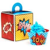 Superhero Comics Cupcake Wrapper & Box Kit