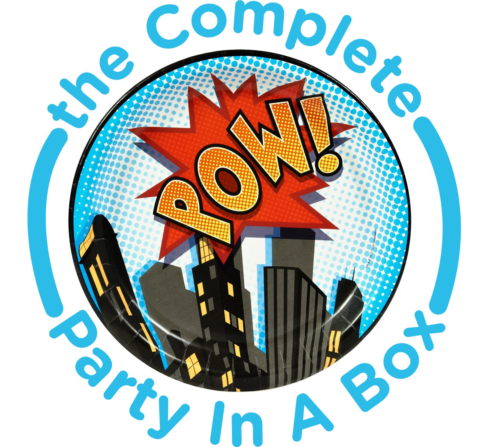 Superhero Party Supplies in a Box