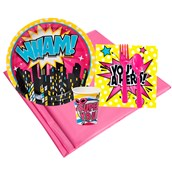 Superhero Girl 8 Guest Party Pack