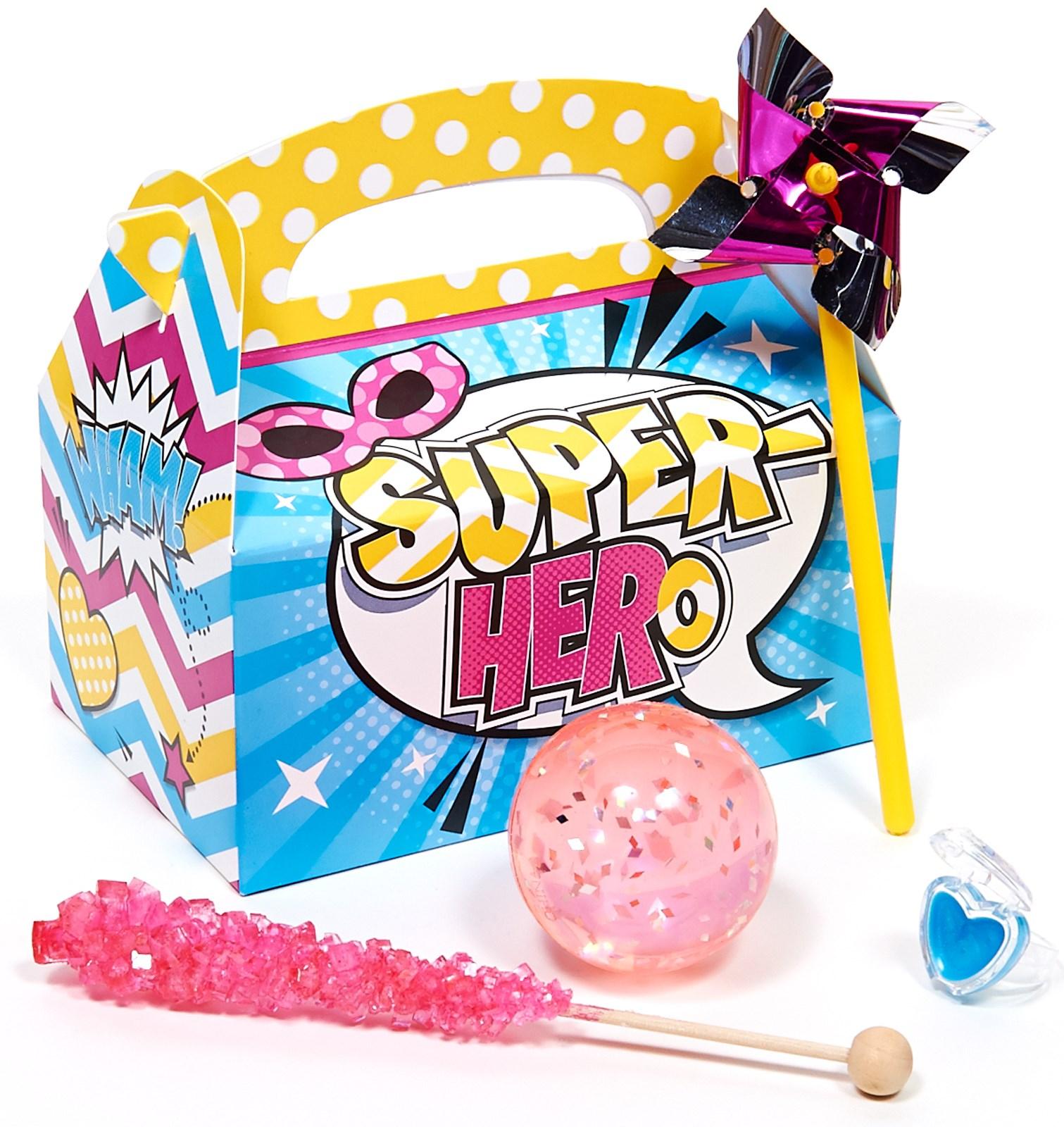 Superhero Girl Party Favor Box
