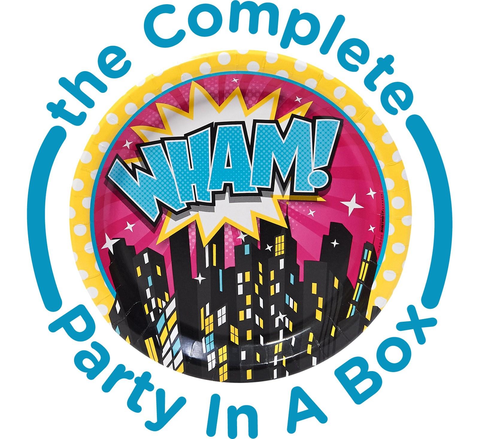 Superhero Girl Party Supplies in a Box