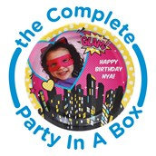 Superhero Girl Personalized Party in a Box