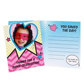 Superhero Girl Personalized Thank-You Notes