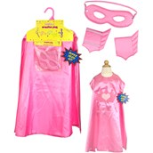 Superhero Girl Pink Cape Kit