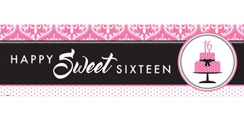 Sweet 16 Birthday Banner