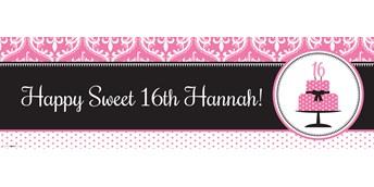Sweet 16 POD Text Banner