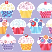 Sweet Cupcake Party Lunch Napkins (16)