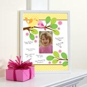 Sweet Tweet Bird Pink - Framed Signature Matte