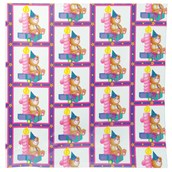 Teddy Bear 1st Birthday Gift Wrap Sheets (Pink)