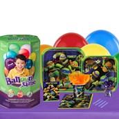 Teenage Mutant Ninja Turtles 16 Guest Kit with Tableware and Helium Kit