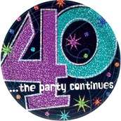 The Party Continues 40th Birthday Cake P