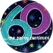 The Party Continues 60th Birthday Cake P