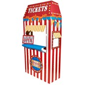 Ticket Booth Cardboard Stand - 6' Tall