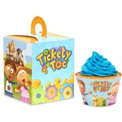 Tickety Toc Cupcake Wrapper & Box Kit