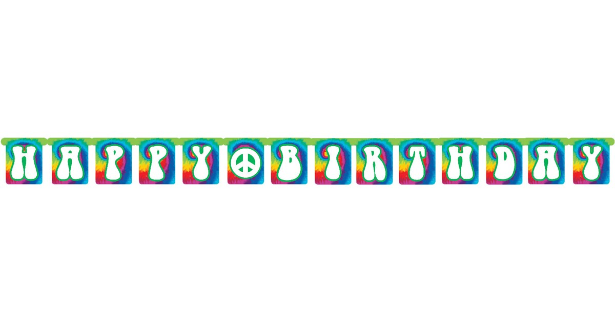 tie dye jointed banner birthdayexpress