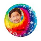 Tie Dye Fun Personalized Dinner Plates