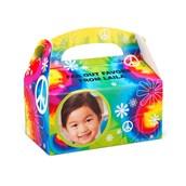Tie Dye Fun Personalized Empty Favor Boxes