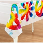 Tie Dye Fun Plastic Tablecover
