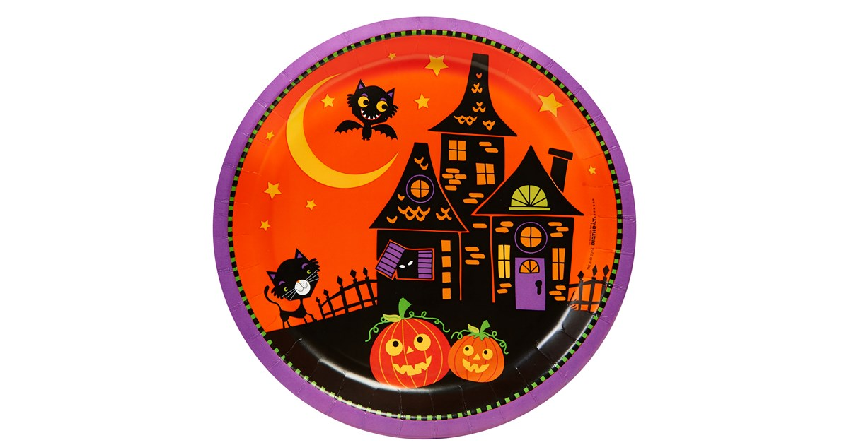 Trick Or Treat Halloween Dinner Plates 8