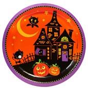 Trick or Treat Halloween Dinner Plates (8)