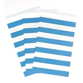 True Blue Striped Paper Treat Bags (15)