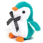 Turquoise Penguin Plush