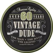 Vintage Dude 60th Cake Plates 7 (8)