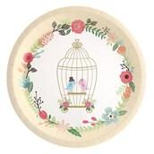 Vintage Love Birds Dinner Plate (8)