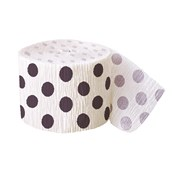 White with Black Dots Crepe Paper Roll