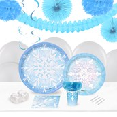 Winter Wonderland 16 Guest Tableware & Deco Kit