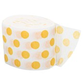 Yellow and White Dots Crepe Paper