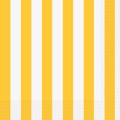 Yellow Stripe Lunch Napkins
