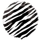 Zebra Print Foil Balloon